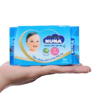 Khăn ướt em bé Nuna không mùi gói 30 miếng