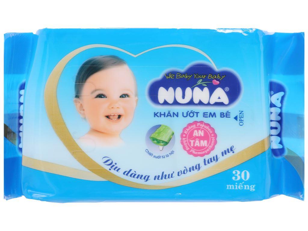 Khăn ướt em bé Nuna không mùi gói 30 miếng 1