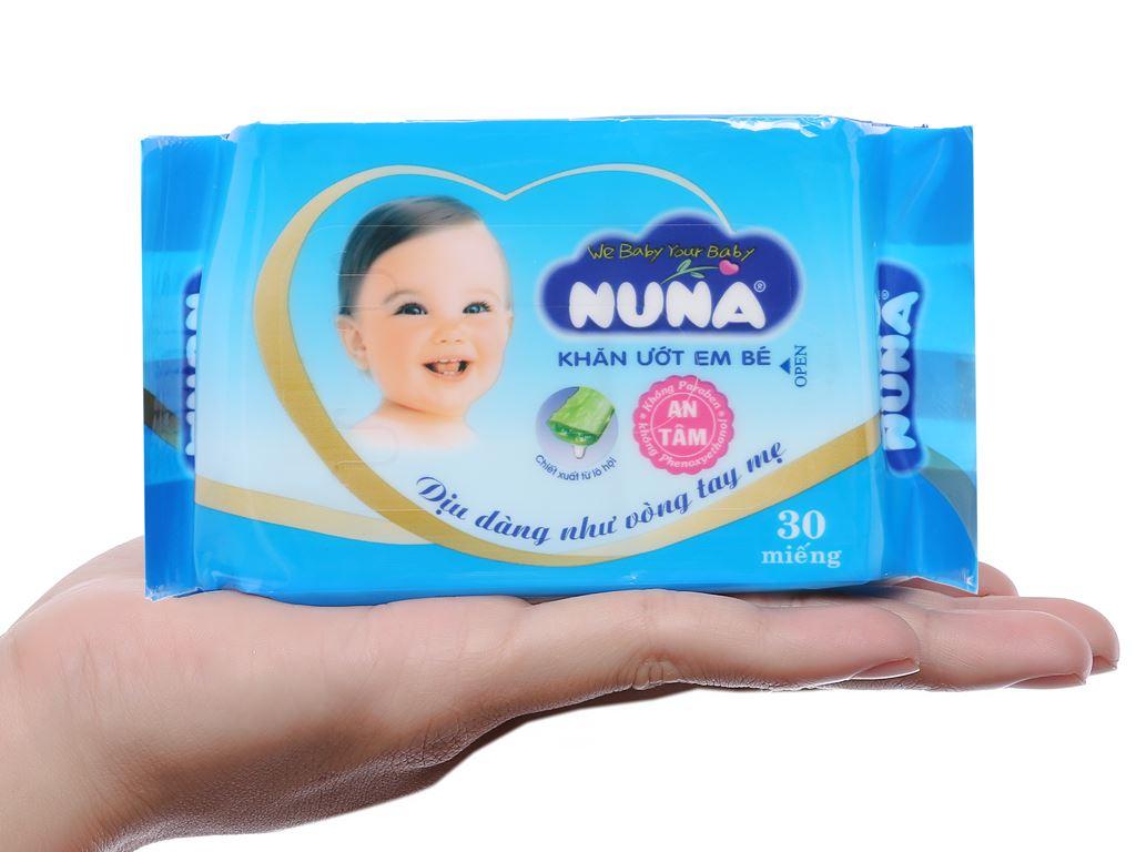 Khăn ướt em bé Nuna không mùi gói 30 miếng 5