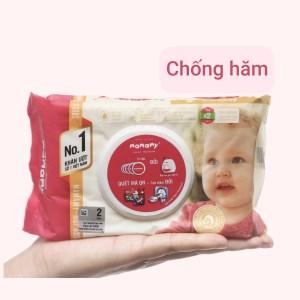Khăn ướt em bé Mamamy chống hăm hương thơm mát gói 80 miếng