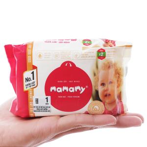 Khăn ướt em bé Mamamy hương thơm mát gói 30 miếng