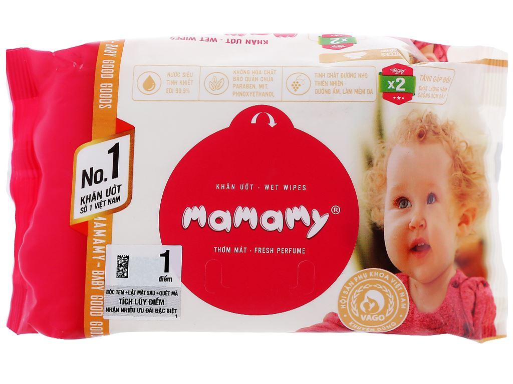 Khăn ướt em bé Mamamy hương thơm mát gói 30 miếng 1