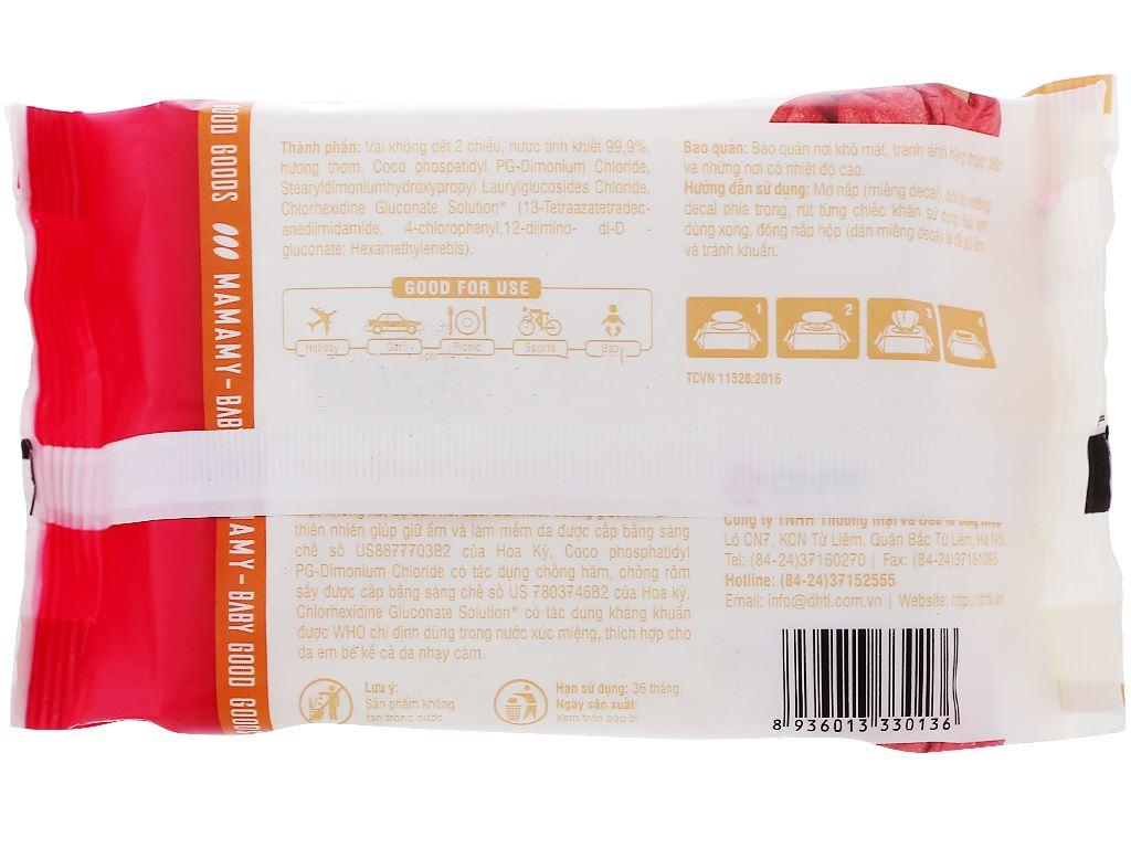 Khăn ướt em bé Mamamy hương thơm mát gói 30 miếng 2