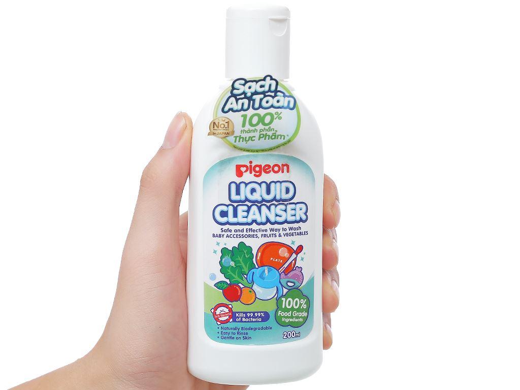 Dung dịch rửa bình sữa & rau củ quả Pigeon 200ml 3