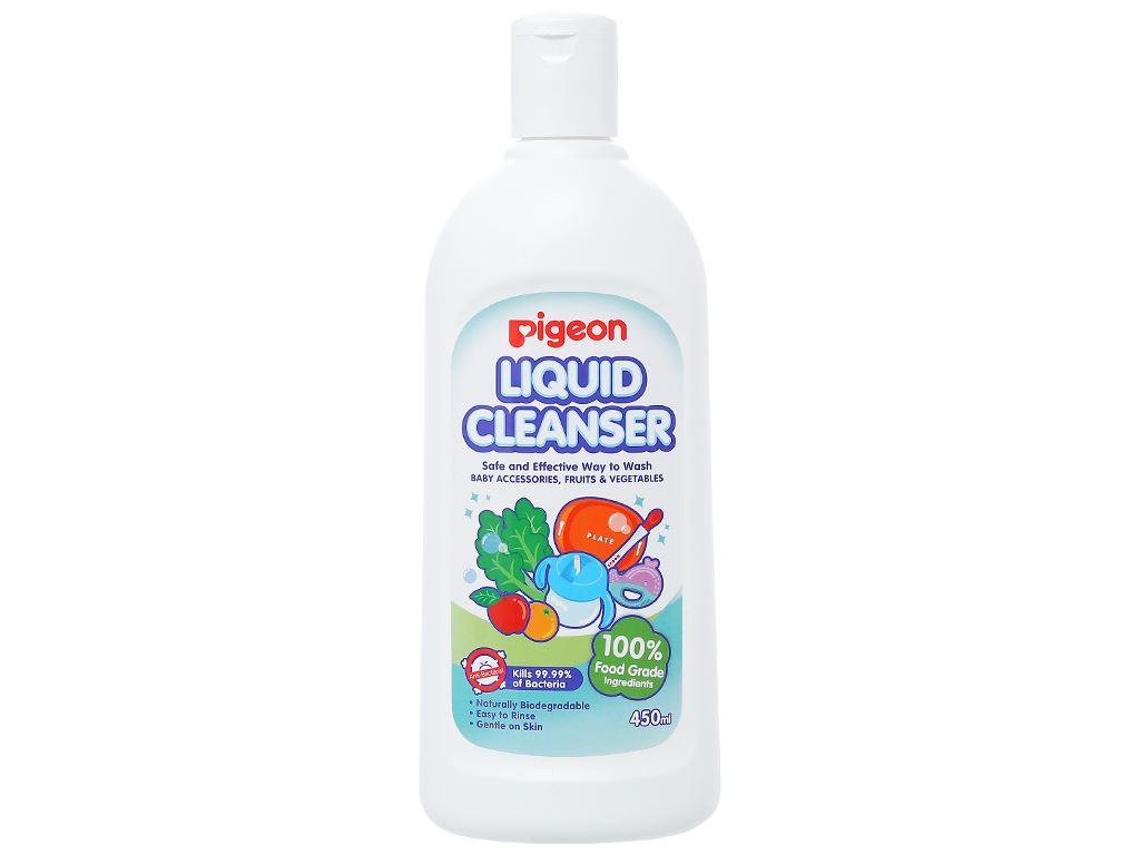 Dung dịch rửa bình sữa & rau quả Pigeon 450ml 1