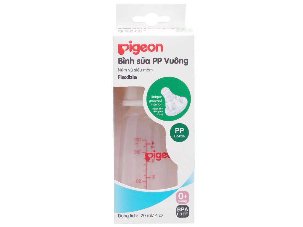 Bình sữa cho bé Pigeon vuông 120ml 1