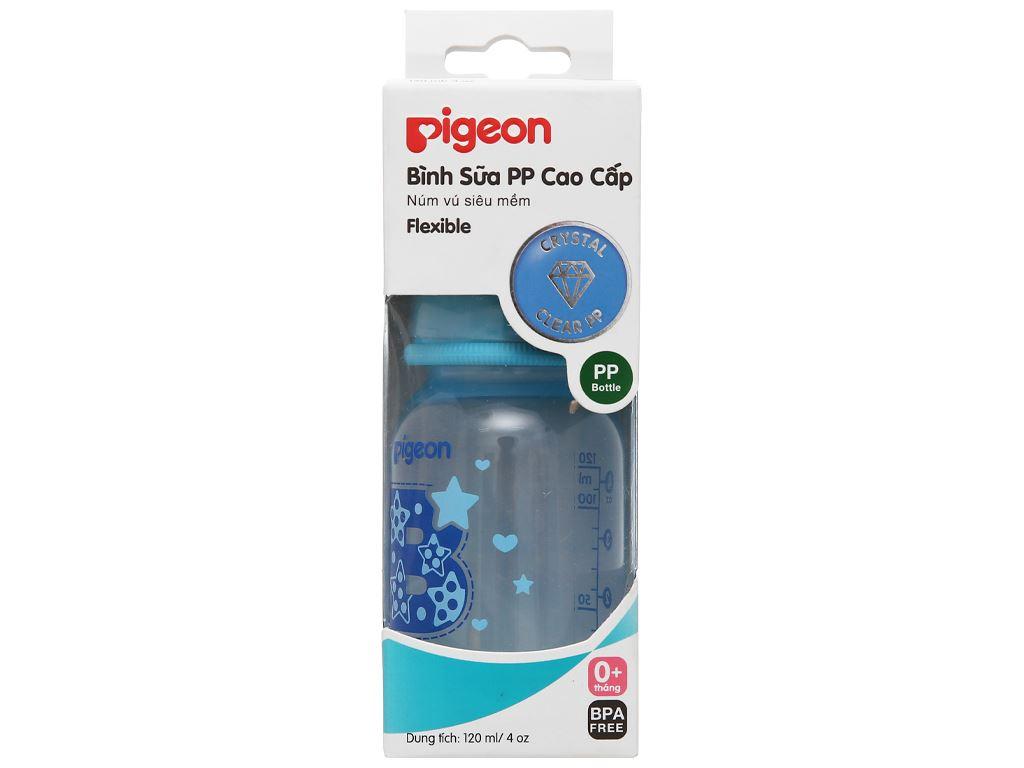 Bình sữa cho bé Pigeon cao cấp 120ml (giao màu ngẫu nhiên) dành cho bé 0 - 4 tháng 1