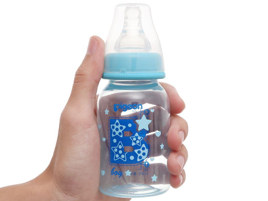 Bình sữa cho bé Pigeon cao cấp 120ml (giao màu ngẫu nhiên) dành cho bé 0 - 4 tháng 13