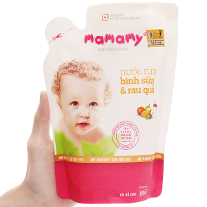 Nước rửa bình sữa & rau củ quả Mamamy 600ml
