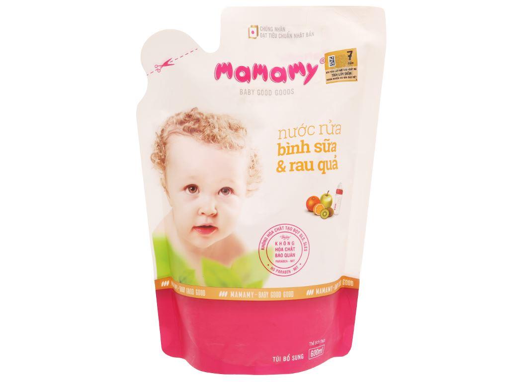 Nước rửa bình sữa & rau củ quả Mamamy 600ml 1