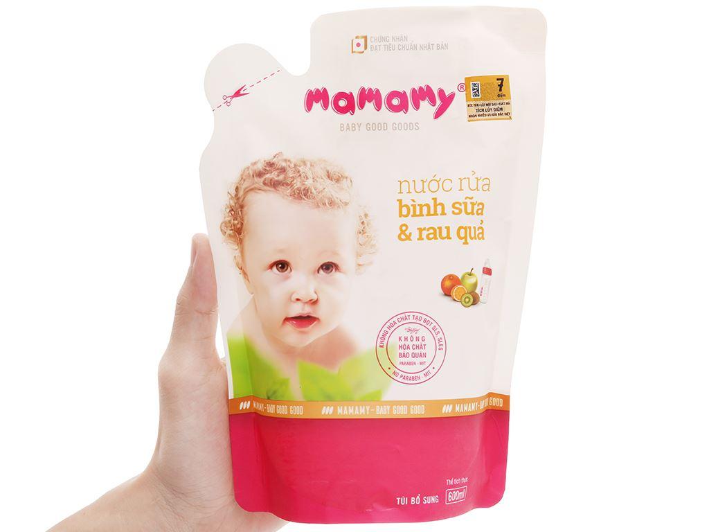 Nước rửa bình sữa & rau củ quả Mamamy 600ml 4