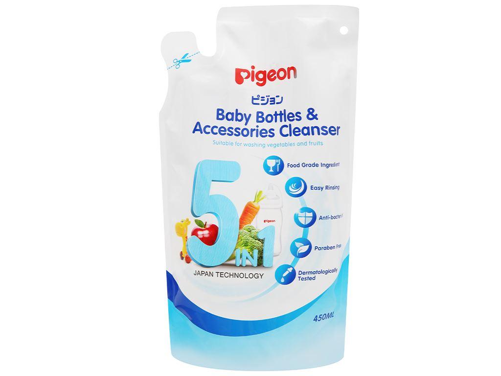 Dung dịch rửa bình sữa & rau củ quả Pigeon 450ml 1