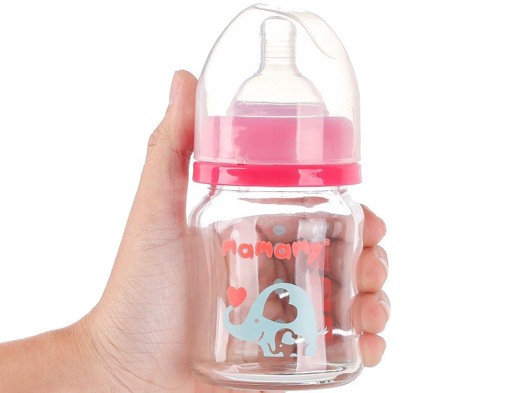 Bình sữa thủy tinh cổ rộng Mamamy màu hồng 120ml (giao màu ngẫu nhiên) 13