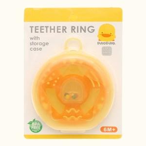 Ngậm nướu Piyo Piyo dạng xúc xắc hình bánh xe dành cho bé trên 6 tháng