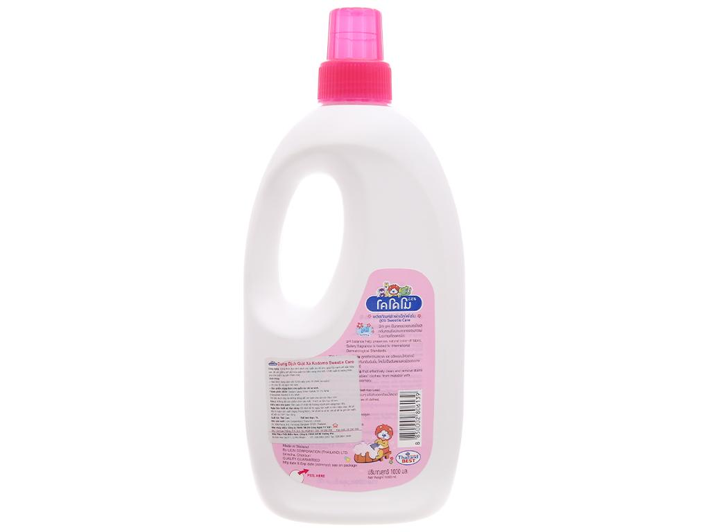 Nước giặt xả cho bé Kodomo Sweetie Care chai 1 lít 2