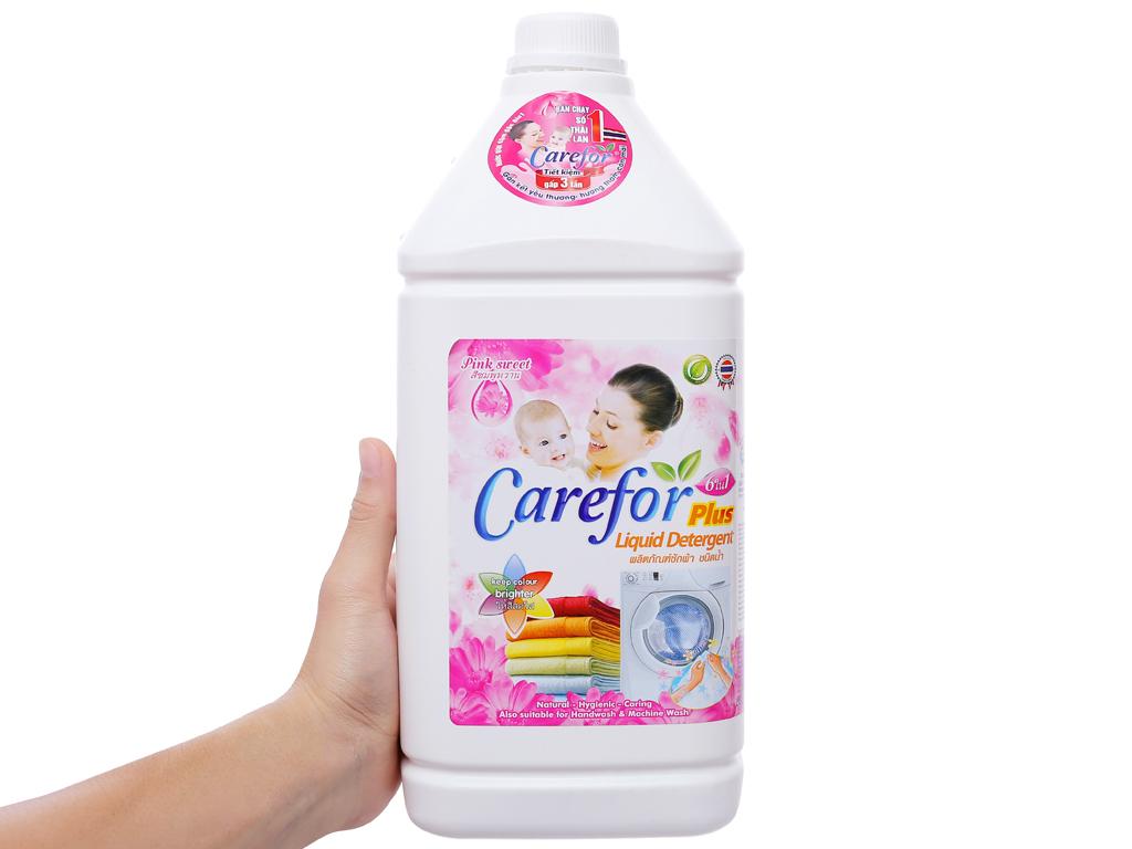 Nước giặt xả cho bé Carefor Plus hương hoa hồng chai 3.5 lít 4