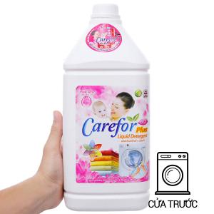 Nước giặt xả cho bé Carefor Plus hương hoa hồng chai 3.5 lít