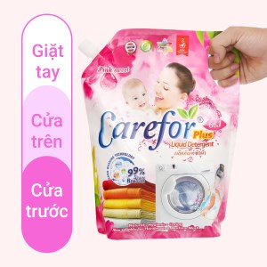 Nước giặt xả cho bé Carefor Plus hương hoa hồng túi 2 lít