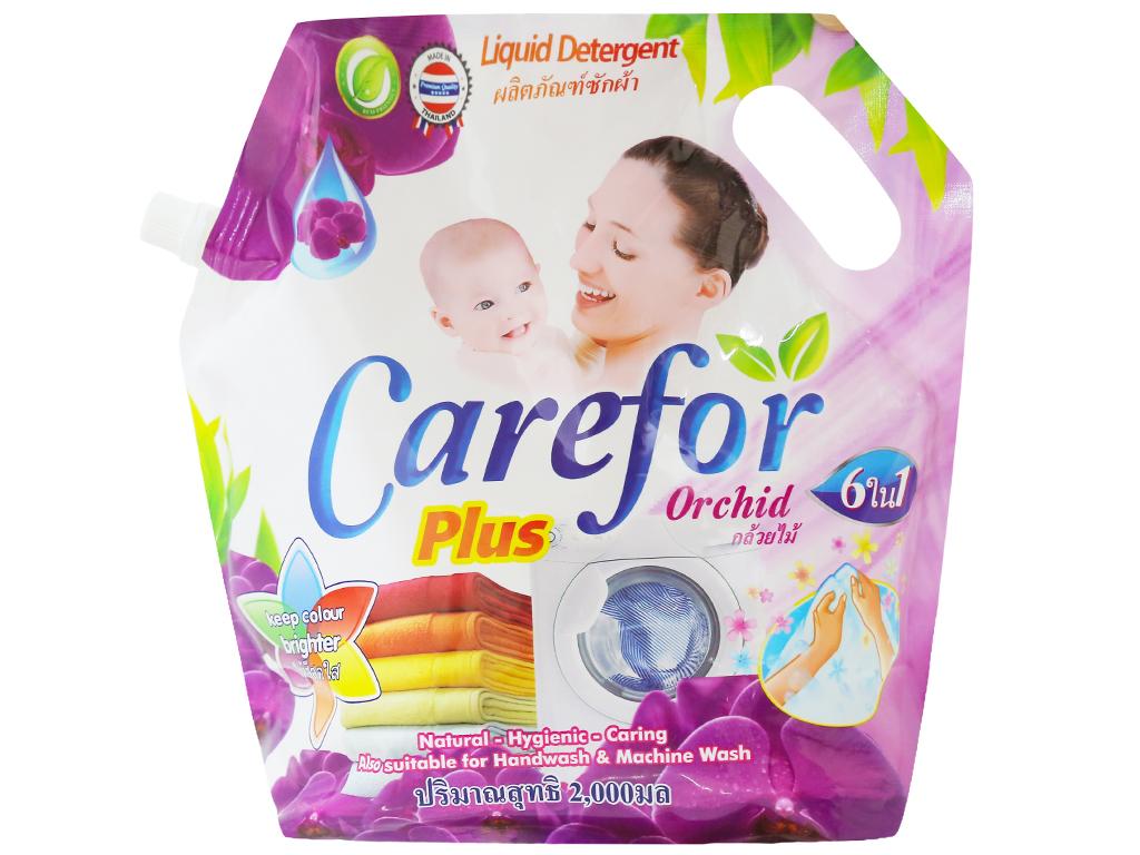 Nước giặt xả cho bé Carefor Plus hương hoa lan túi 2 lít 1