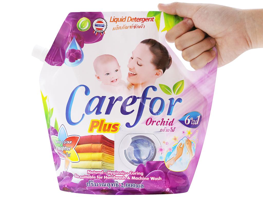 Nước giặt xả cho bé Carefor Plus hương hoa lan túi 2 lít 3