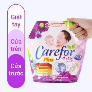 Nước giặt xả cho bé Carefor Plus hương hoa lan túi 2 lít