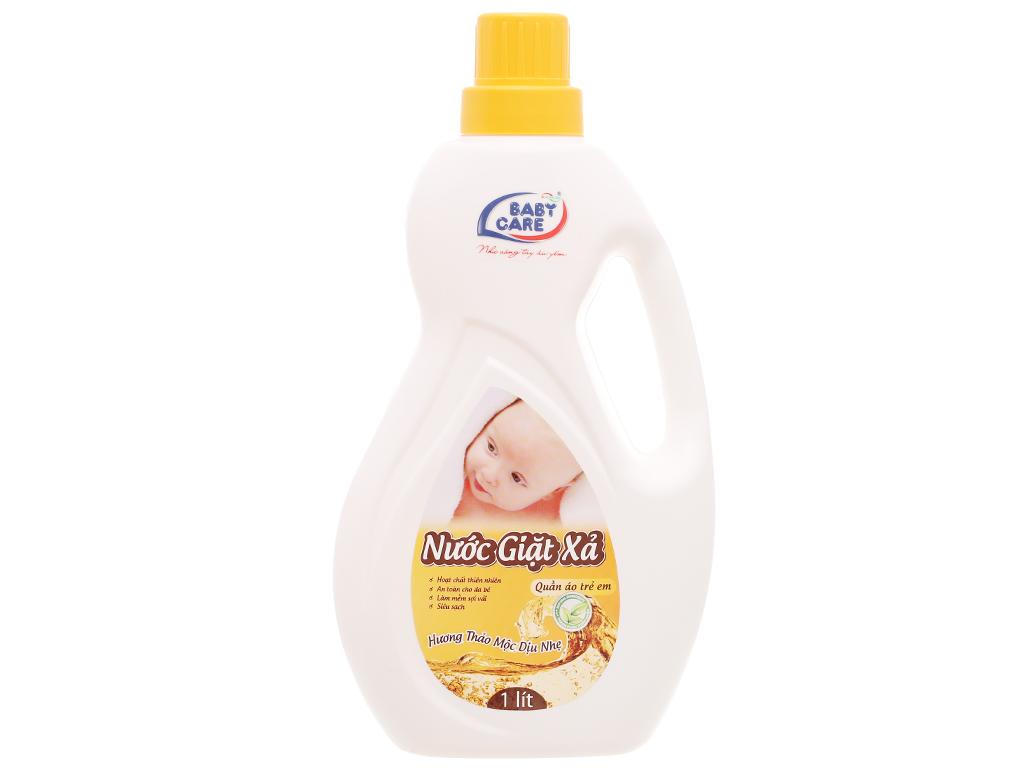 Nước giặt xả cho bé Baby Care hương thảo mộc chai 1 lít 1