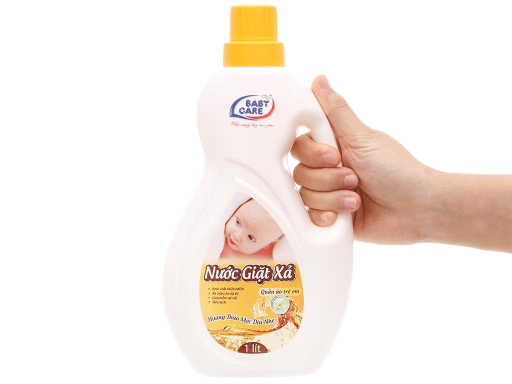Nước giặt xả cho bé Baby Care hương thảo mộc chai 1 lít 4