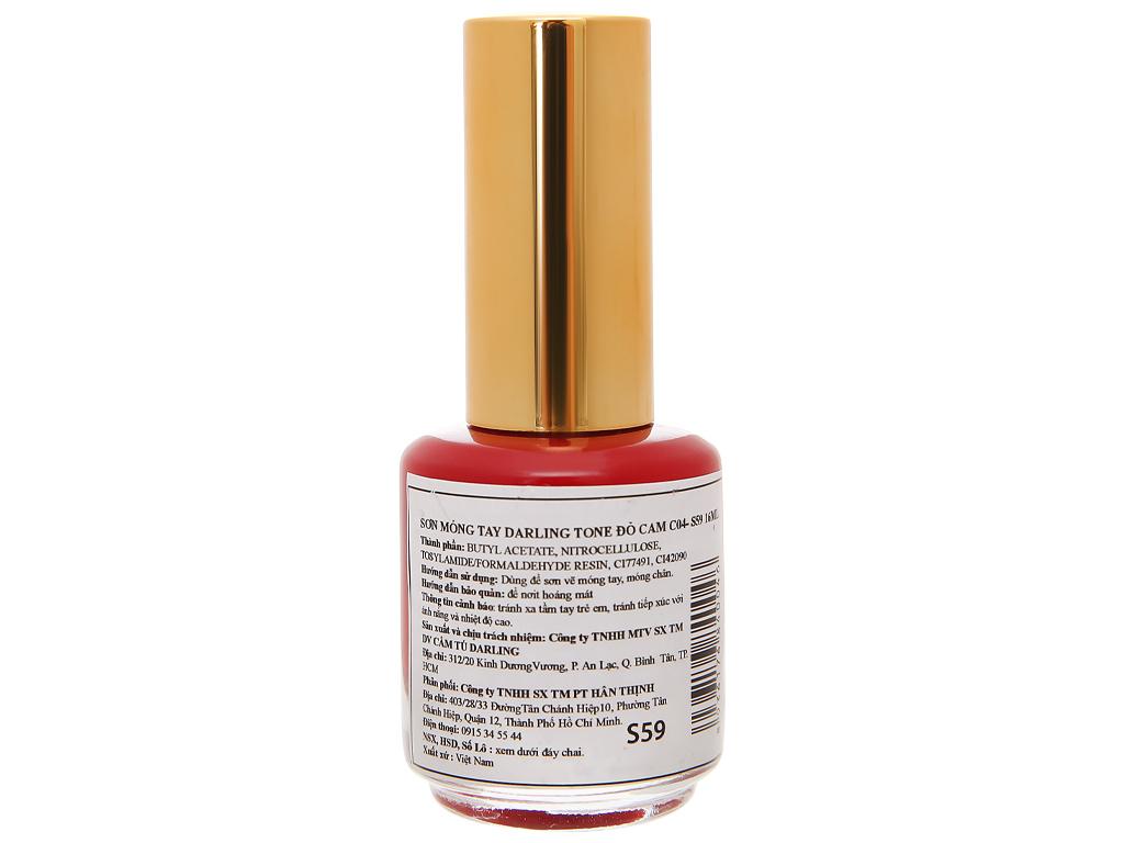 Sơn móng tay Darling màu đỏ cam 16ml 2
