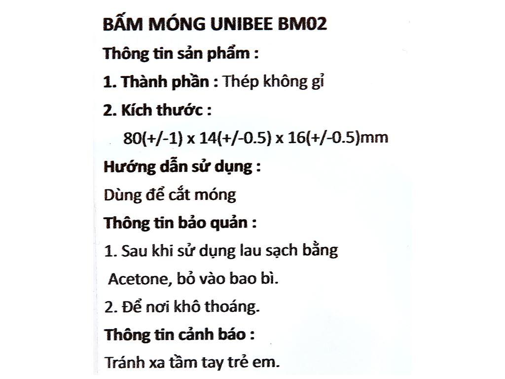 Bấm móng tay Unibee BM-02 3