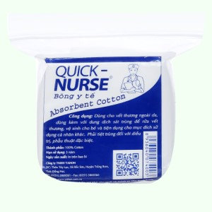Bông y tế Quick Nurse bông y tế 25g