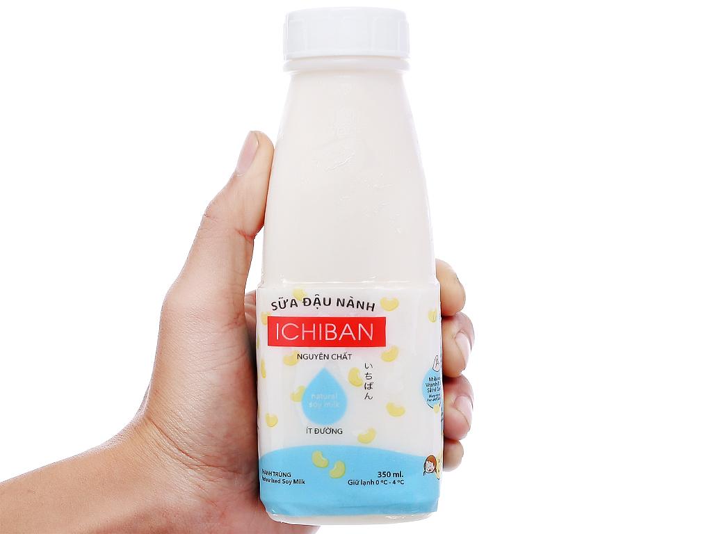 Sữa đậu nành Ichiban nguyên chất ít đường chai 350ml 3