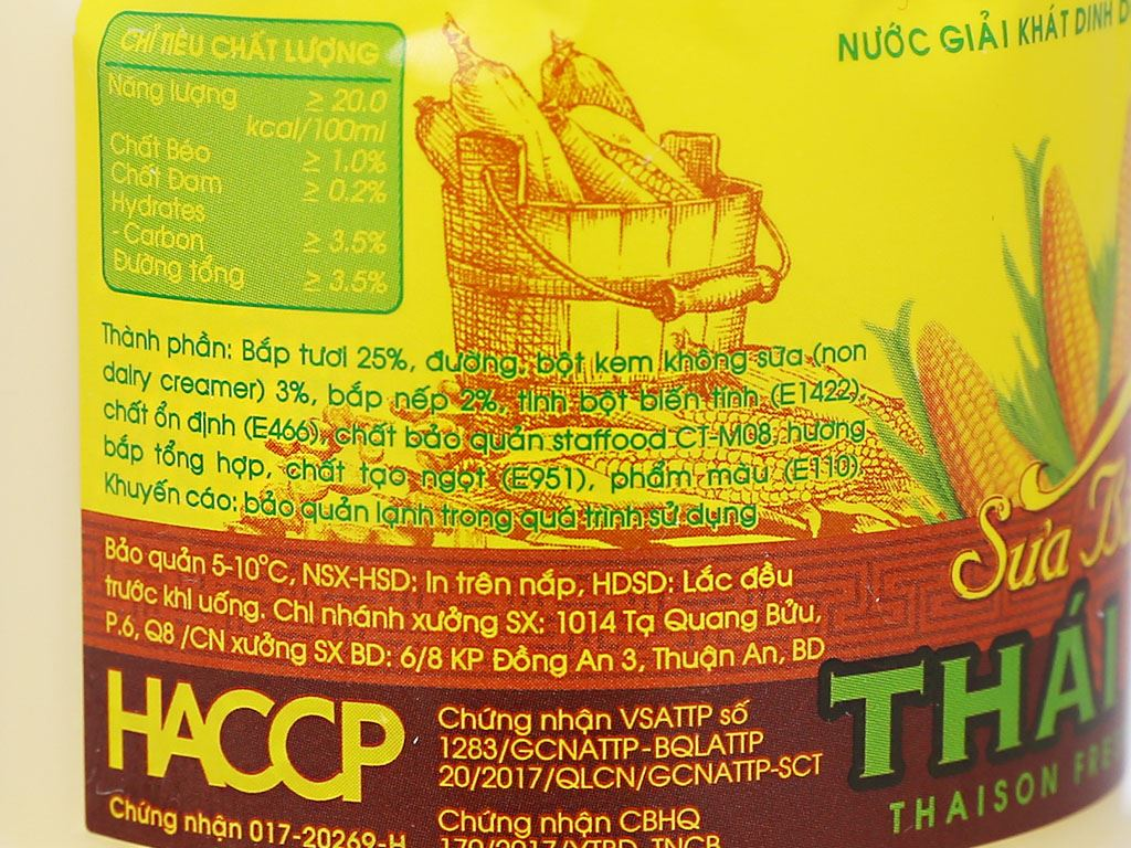 Sữa bắp nếp Thái Sơn chai 330ml 5
