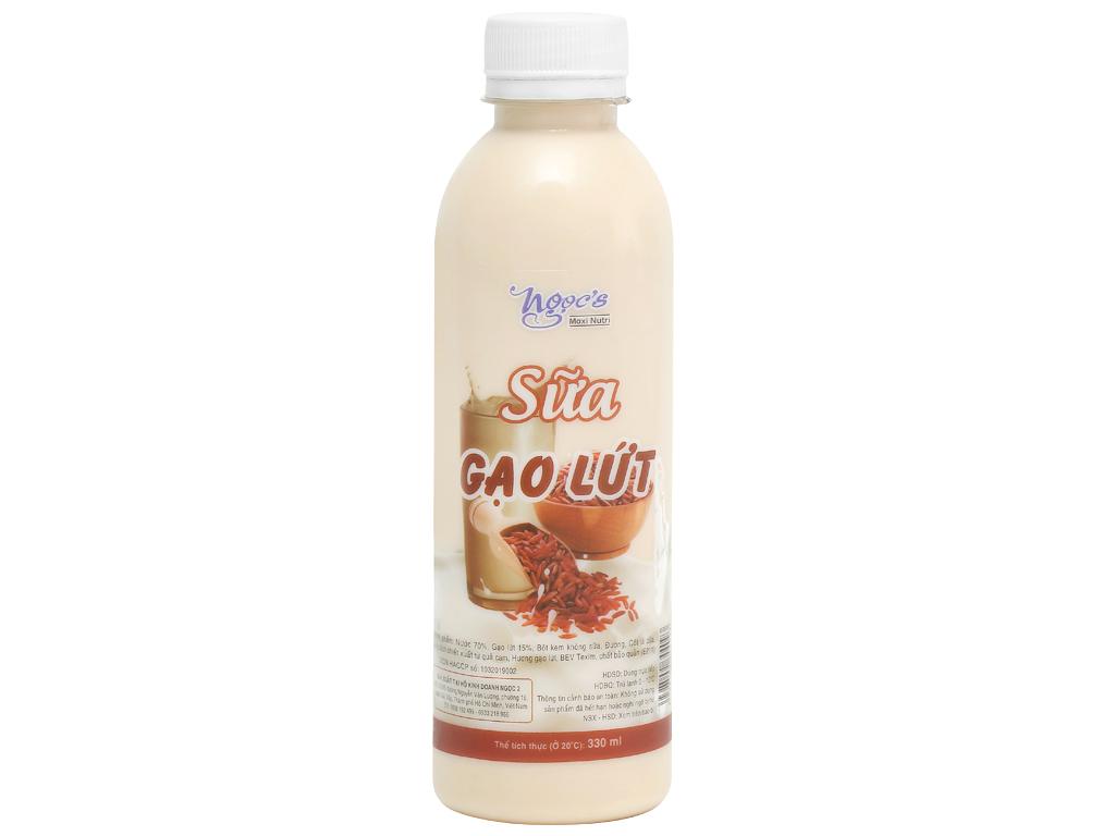 Sữa gạo lứt Ngọc's chai 330ml 2