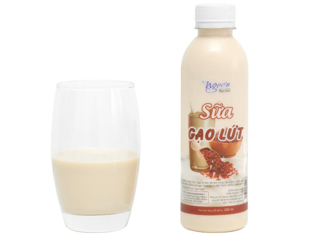 Sữa gạo lứt Ngọc's chai 330ml 5