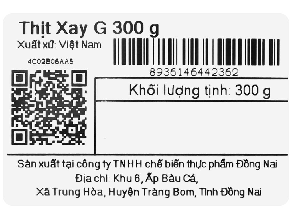 Thịt heo xay G khay 300g 8