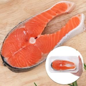 Cá hồi cắt khúc khay 300g (giao ngẫu nhiên khúc mình hoặc đuôi)