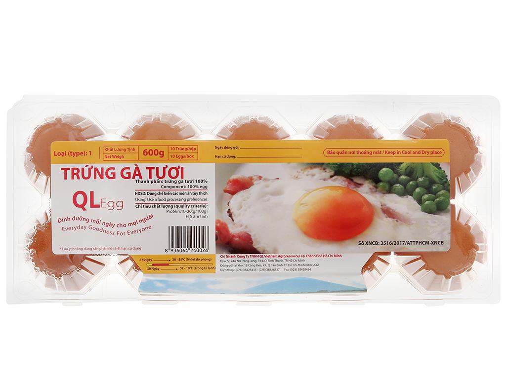 Hộp 10 trứng gà tươi QLEgg 2