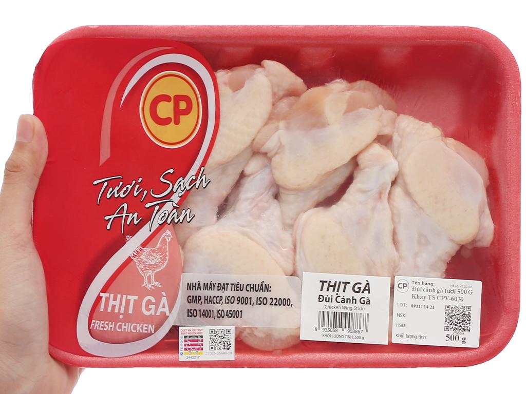 Đùi cánh gà tươi C.P khay 500g 6