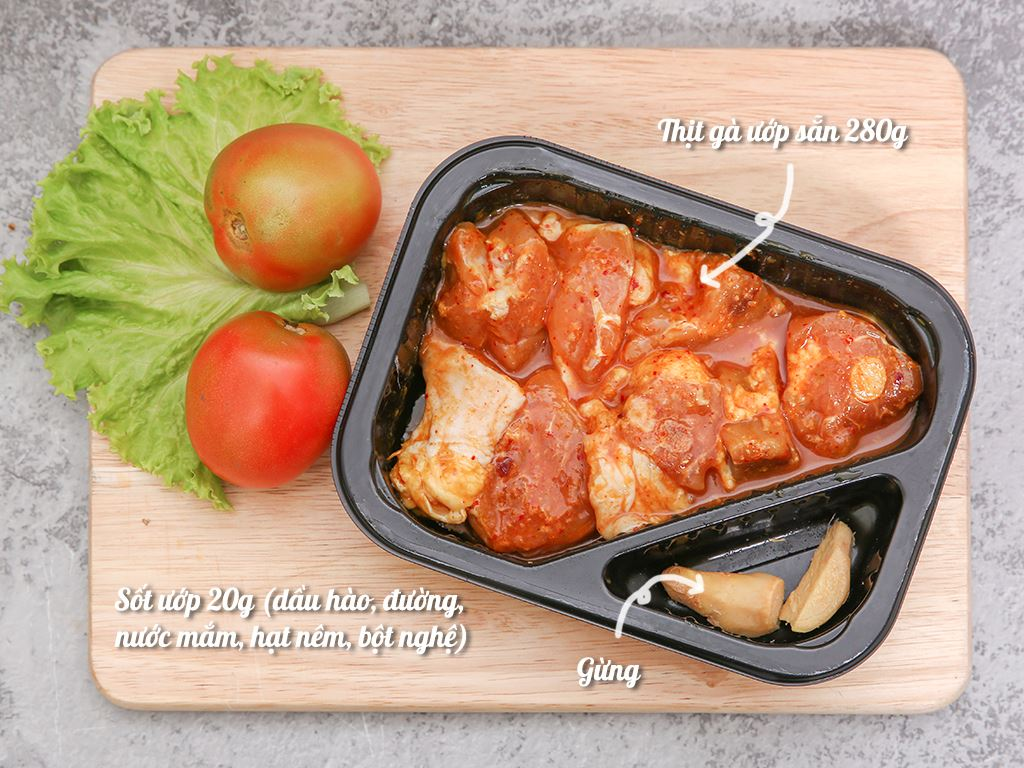 Thịt gà kho gừng hộp 300g 1
