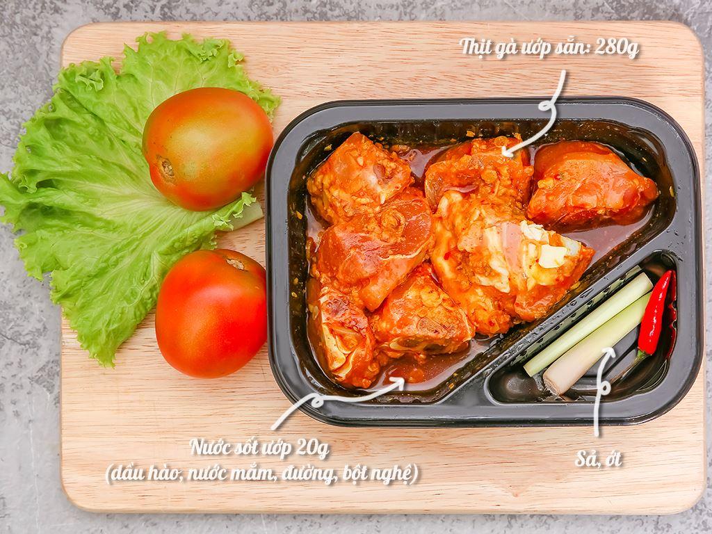 Thịt gà ram sả ớt hộp 300g 1