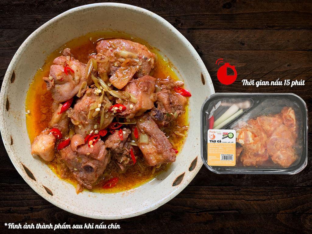 Thịt gà ram sả ớt hộp 300g 2