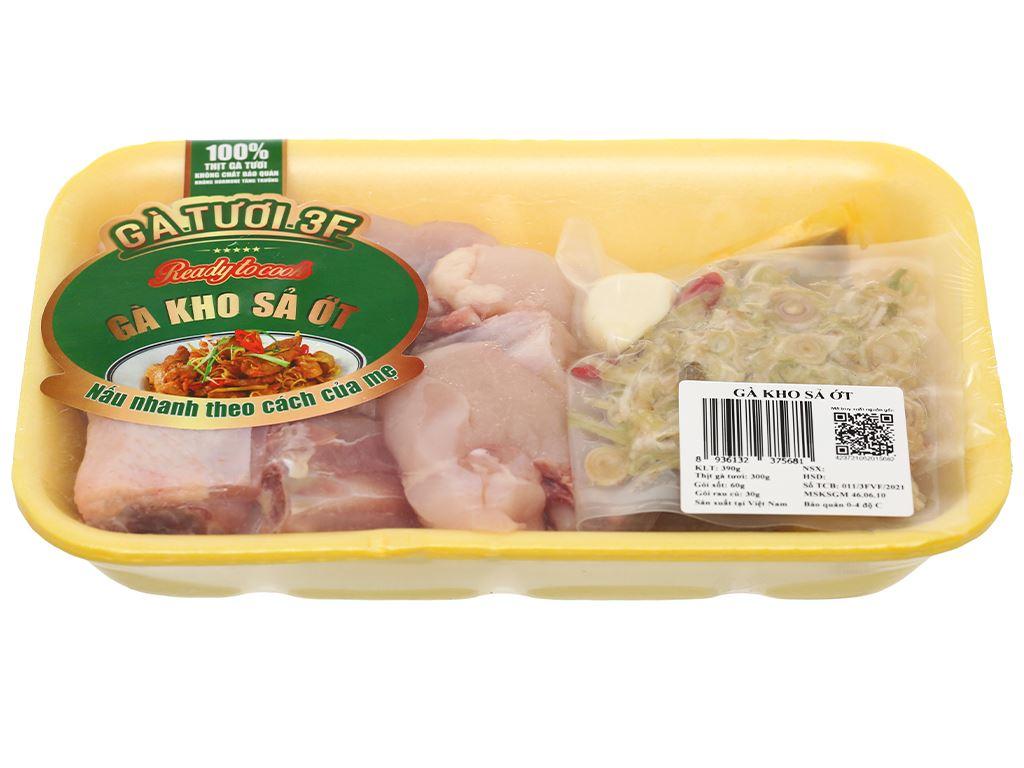 Thịt gà kho sả ớt khay 390g 2