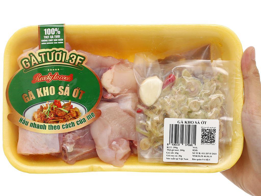Thịt gà kho sả ớt khay 390g 8