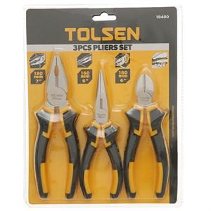 Bộ 3 kìm răng - cắt - nhọn Tolsen 10400