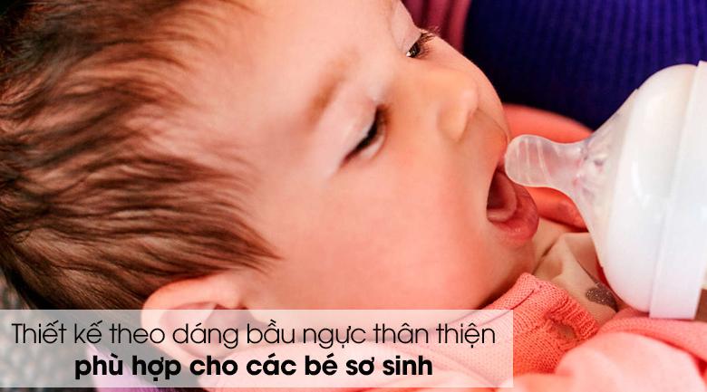 Núm ti silicone Philips Avent cho trẻ sơ sinh SCF651/23 - Thiết kế theo dáng bầu ngực