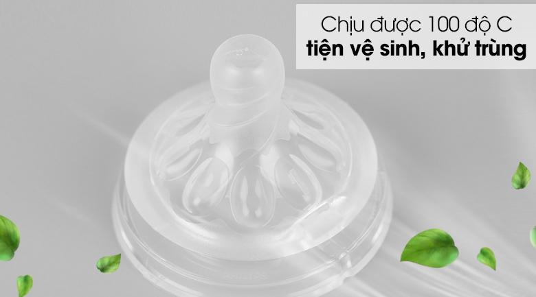 Núm ti silicone Philips Avent cho trẻ sơ sinh SCF651/23 - Mức chịu nhiệt 100 độ C