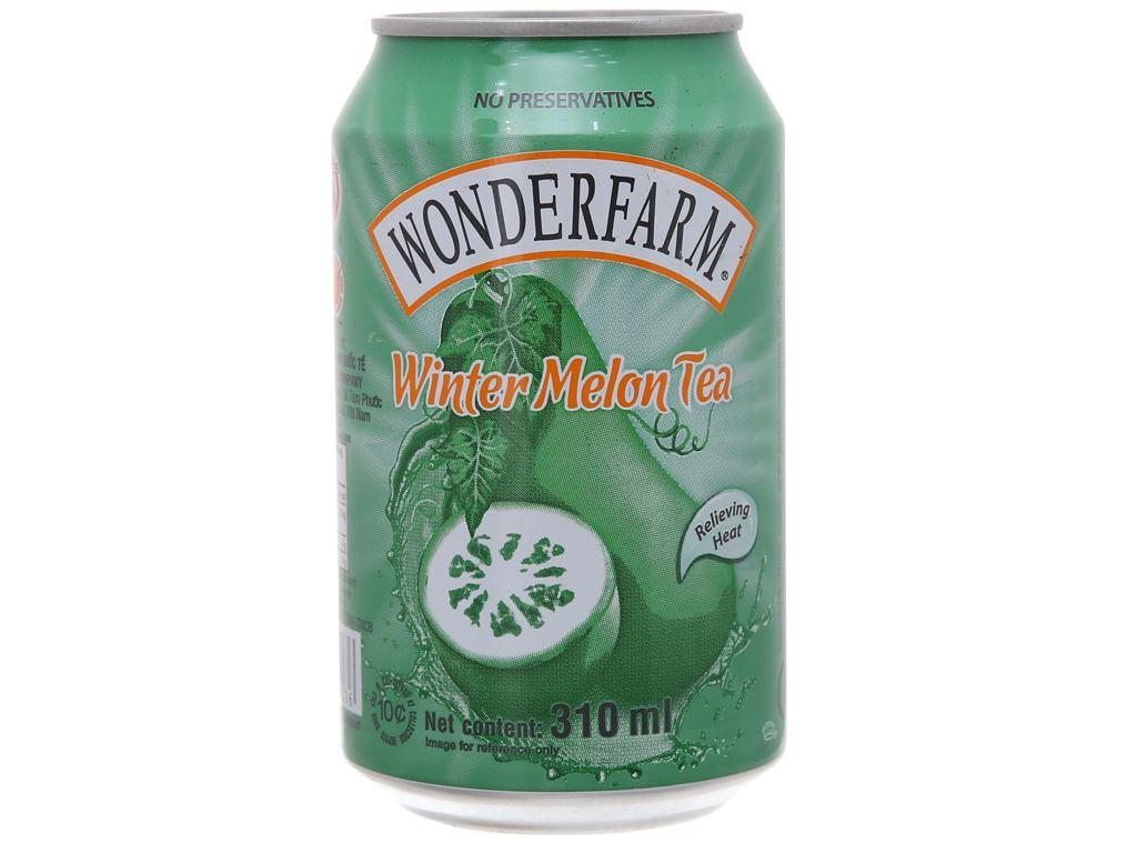 6 lon trà bí đao Wonderfarm 310ml 2