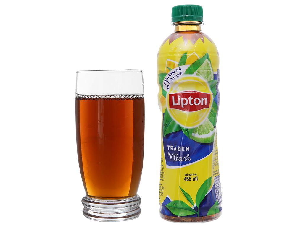 Thùng 24 chai trà đen Lipton vị chanh 455ml 5