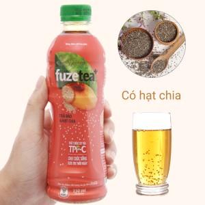 Trà đào và hạt chia Fuze Tea 350ml