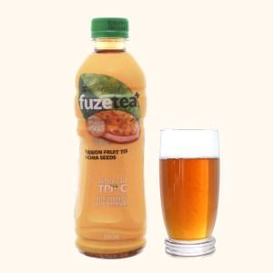 Trà chanh dây và hạt chia Fuze Tea 350ml